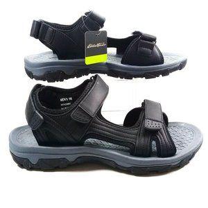 NEW! Eddie Bauer Mens Hiking Cushion Black Sandals